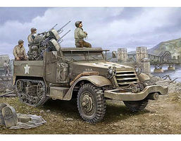 Trumpeter M16 Halftrack with Multiple-Gun Plastic Model Military Vehicle 1/16 Scale #911