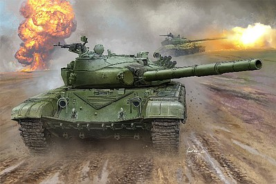 Trumpeter Russian T-72B Mod 1985 Main Battle Tank -- Plastic Model Military Vehicle Kit -- 1/16 Scale -- #924
