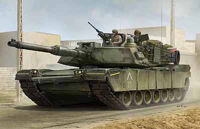 Trumpeter US M1A1 AIM Main Battle Tank -- Plastic Model Military Vehicle Kit -- 1/16 Scale -- #926
