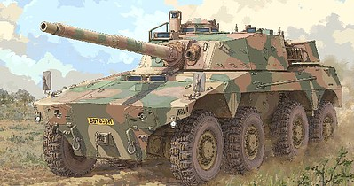 Trumpeter South African Rooikat AFV -- Plastic Model Military Vehicle Kit -- 1/35 Scale -- #9516