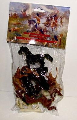 Toy Soldiers of San Diego Plains Indians Mounted Figure Playset (6) -- Plastic Model Military Figure -- 1/32 Scale -- #16