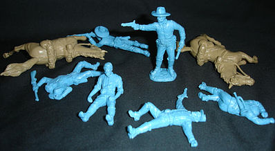 Toy Soldiers of San Diego Civil War Cavalry Dismounted w/Casualties -- Plastic Model Military Figure -- 1/32 -- #17