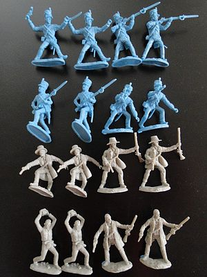 Toy Soldiers of San Diego The Alamo Combat Texan & Mexican Playset (16) -- Plastic Model Military Figure -- 1/32 -- #25