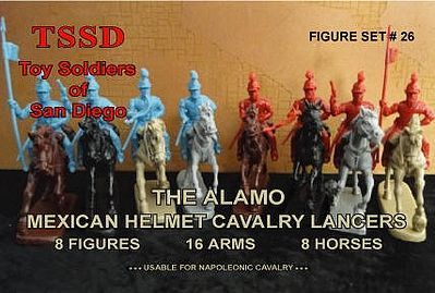 Toy Soldiers of San Diego 1/32 Alamo Mexican Helmet Cavalry Lancers Figure Playset (8 Mtd)