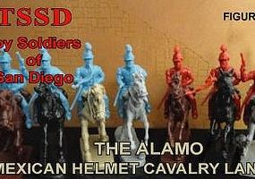 Toy-Soldiers 1/32 Alamo Mexican Helmet Cavalry Lancers Figure Playset (8 Mtd)