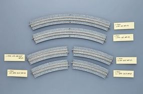Tomy Wide-Roadbed PC Curve Track C354-45WP N Scale Model Railroad Track #1743