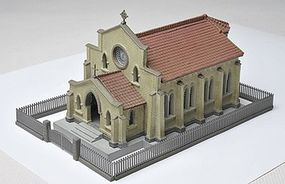 Tomy 1st Congregational Church Kit N Scale Model Railroad Building #234838