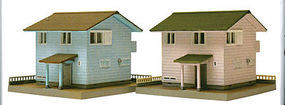 Tomy Modern Ready-Built Home Kits (2-Pack) N Scale Model Railroad Building #256212