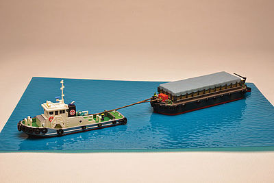 TomyTec Co Barge w/ Tarp Cover Kit -- N Scale Model Railroad Vehicle -- #260639