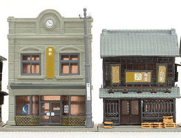 Tomy Jewelry Shop & Liquor Store Kit N Scale Model Railroad Building #260738