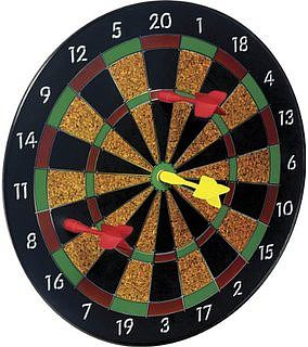 Toysmith Magnetic Dart Set Board (11.5'') with 6 Darts -- Novelty Toy -- #3121