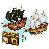 Toysmith Pirate Ship Wood Model Kit