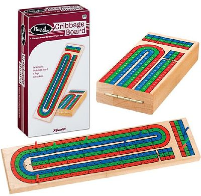 Toysmith Triple Track Wood Cribbage Board -- Card Game -- #6392