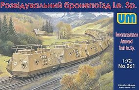 Unimodels LeSp Recon Armored Railcars (10) Plastic Model Military Vehicle Kit 1/72 Scale #261
