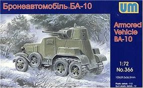 Unimodels BA10ZD Soviet Armored Military Vehicle Plastic Model Military Vehicle Kit 1/72 Scale #366