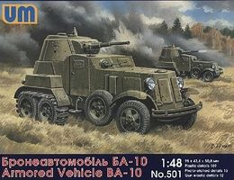 Unimodels BA10 Russian Armored Vehicle Plastic Model Military Vehicle Kit 1/48 Scale #501