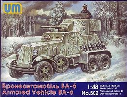 Unimodels BA6 Armored Vehicle Plastic Model Military Vehicle Kit 1/48 Scale #502
