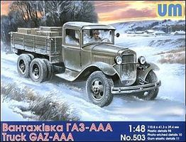 Unimodels GAZ-AAA WWII Russian Truck Plastic Model Military Truck Kit 1/48 Scale #503