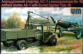 Unimodels AS1 Airfield Starter w/Yak1B Soviet Fighter Plastic Model Military Truck Kit 1/48 #505