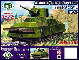 Unimodels Armored Self-Propelled Railroad Car DT45 Plastic Model Military Vehicle Kit 1/72 Scale #602