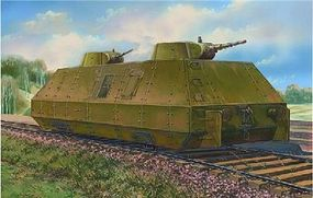 Unimodels Biaxial OB3 Armored Railcar Plastic Model Military Vehicle Kit 1/72 #628