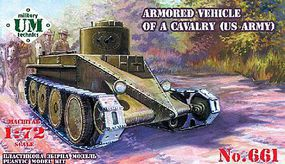 Unimodels US Army Cavalry Armored Vehicle (New Tool) Plastic Model Tank Kit 1/72 Scale #661