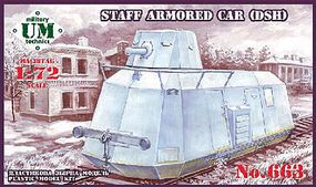 Unimodels DSH Staff Armored Car Plastic Model Military Vehicle Kit 1/72 Scale #663