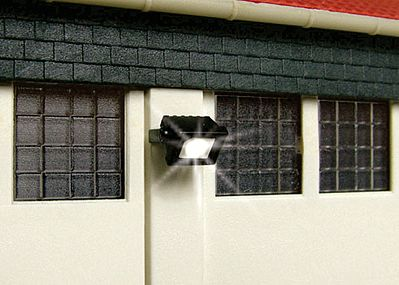 Viessmann Modellspielwaren Wall Mount Floodlight with LEDs -- HO Scale Model Railroad Street Light -- #6333