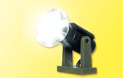 Viessmann Modellspielwaren LED Floodlight (3/8'' 1cm Tall on Base) - N Scale Model Railroad Street Light -- #6530