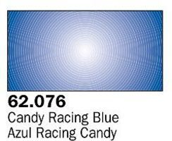 Vallejo Candy Racing Blue Premium (60ml Bottle) Hobby and Model Acrylic Paint #62076