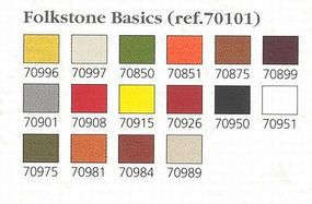 Vallejo FOLKSTONE BASIC Set #1 17ml (16 Paints) Hobby and Model Paint Set #70101