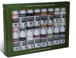 Vallejo 17ml Bottle Imperial Rome Model Color Paint Set (16 Colors) Hobby and Model Paint Set #70143