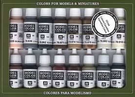 Vallejo EQUESTRIAN COLORS PAINT SET (16 Colors) Hobby and Model Paint Set #70144