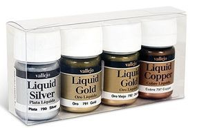 Vallejo Metallic Model Color Paint Set (4 Colors) Hobby and Model Paint Set #70199