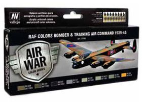 Vallejo 17ml Bottle RAF Colors Bomber & Training Air Command 1939-1945 Model Air Paint Set (8 Colors)