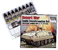 Vallejo Desert War Zenith Transformation Pro Paint Set Hobby and Model Paint #71153