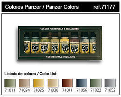 Vallejo Panzer Model Air Paint Set (8 Colors) Hobby and Model Paint Set #71177