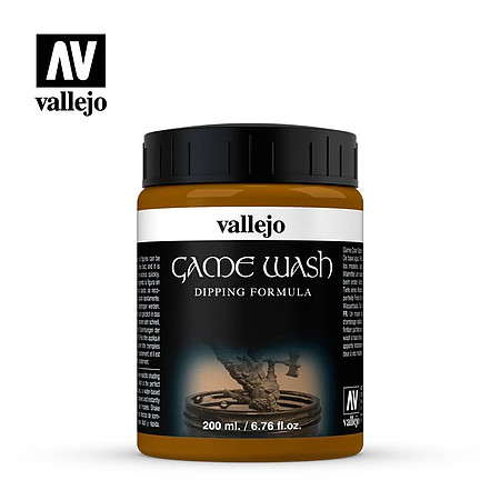Vallejo Acrylic Paints Sepia Wash 200ml Bottle -- Hobby and Model Acrylic Paint -- #73300