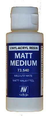 Vallejo Acrylic Paints Matte Medium 60ml Bottle -- Hobby and Model Acrylic Paint -- #73540