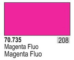 Vallejo 17ml Bottle Fluorescent Magenta Model Color (6/Bx)
