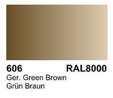Vallejo German Green Brown RAL 8000 Primer 60ml Bottle Hobby and Model Acrylic Paint #73606