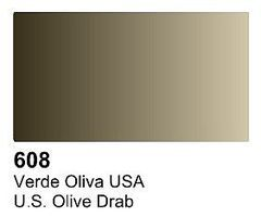 Vallejo UK Olive Drab Primer 60ml Bottle Hobby and Model Acrylic Paint #73608