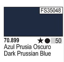 Vallejo 17ml Bottle Dark Prussian Blue Model Color (6/Bx)