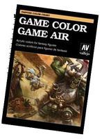 Vallejo Game Color & Game Air Hand Painted Color Chart Hobby and Model Paint Supply #cc972