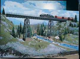 Vollmer Halle Viaduct HO Scale Model Railroad Bridge #42550