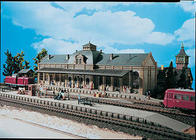 Vollmer Nordstadt Station Kit HO Scale Model Railroad Building #43561