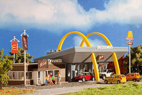 Vollmer McDonalds Restaurant w/McCafe Kit HO Scale Model Railroad Building #43635