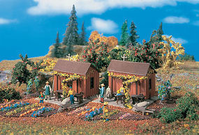 Vollmer Garden Houses Kit HO Scale Model Railroad Building #43640