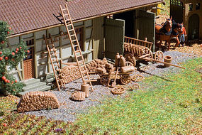 Vollmer Farm Supplements HO Scale Model Railroad Building Accessory #43699