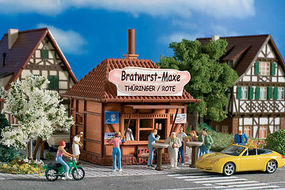 Vollmer Maxe Bratwurst/Hot Dog Henry Kiosk Kit HO Scale Model Railroad Building #45140